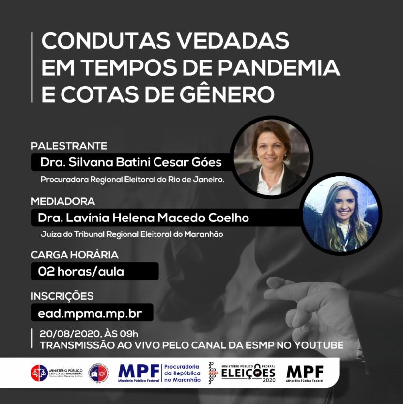 Webnário: Condutas Vedadas em Tempo de Pandemia e Cotas de Gênero.